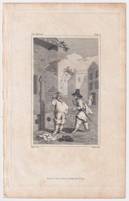 Antique Engraving Print, published by Vernor, 1798