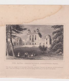 Antique Engraving Print, The Royal Observatorym Greenwich Park, 1830