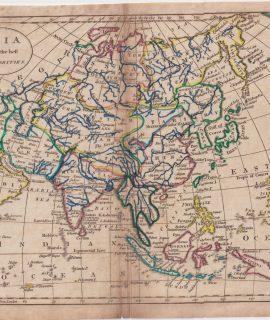 Antique Map, Asia, 1795