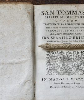 San Tommaso spiritual direttore... Napoli, 1753