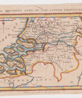 Antique Map, The Southern Part of the united Provinces, 1809