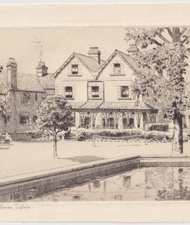 Original Etching by Alfred Hugh Fisher, Silchester House, Taplow