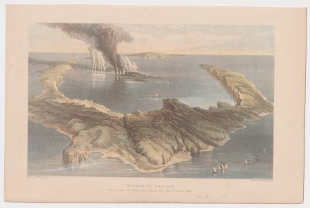 Antique Print, Submarine Volcano, 1871