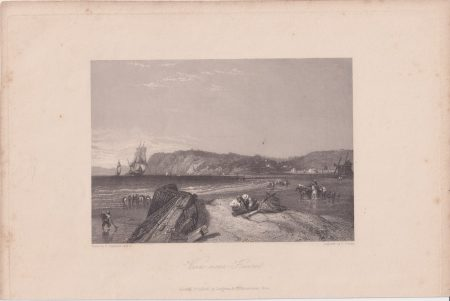 Antique Engraving Print, View near Havre, 1845