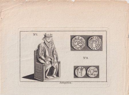 Rare Antique Engraving Print, Antiquities, 1770 ca.