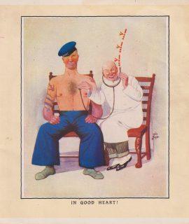 Vintage Print, In good Heart! 1909 ca.