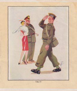 Vintage Print, Tact! 1909 ca.