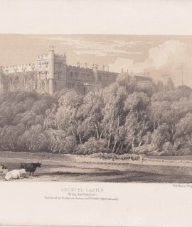 Antique Print, Arundel Castle, 1846