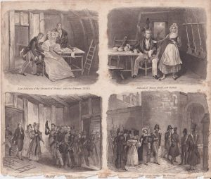 Antique Print, Duchess of Berry, Marie Bossy... 1809