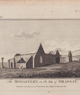 Antique Engraving Print, The Monastery in the Isle of Oransay, 1786