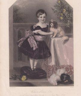 Rare Antique Engraving Print, William Henry John, 1860