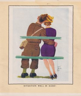 Vintage Print, Situation Well in Hand! 1909 ca.