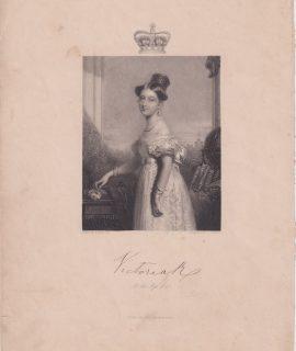 Antique Engraving Print, Victoria, 1858 ca.