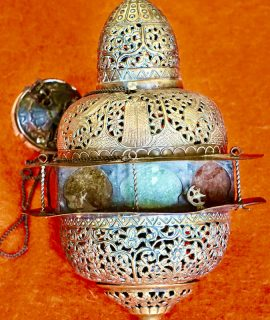 Antique oriental islamic thurible